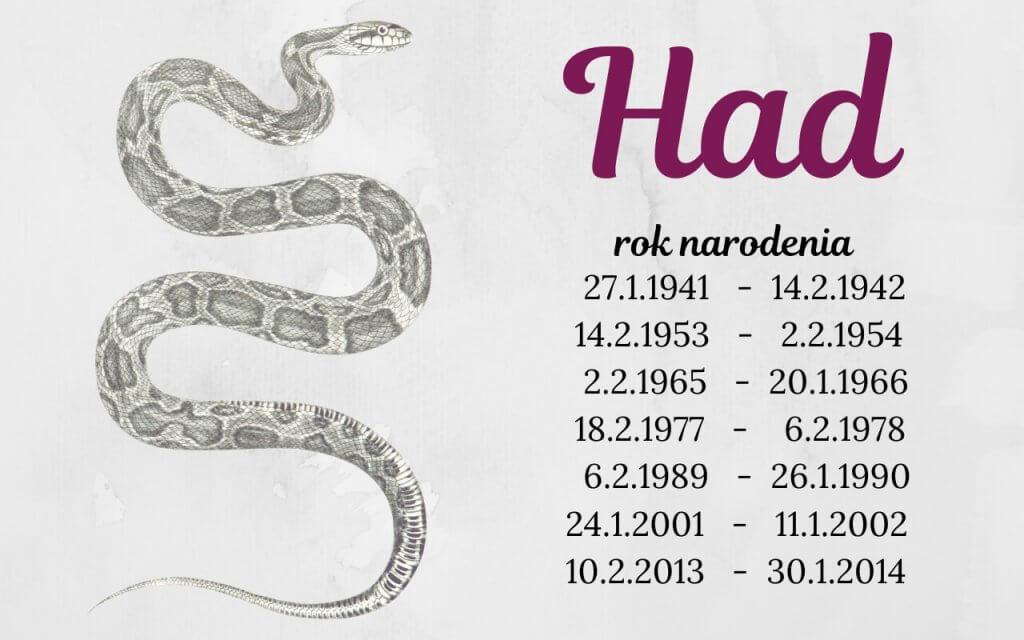 Had – čínske znamenie